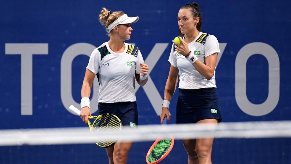 Stefani e Pigossi nas Olimpíadas de Tóquio — Foto: Piroschka Van De Wouw / REUTERS