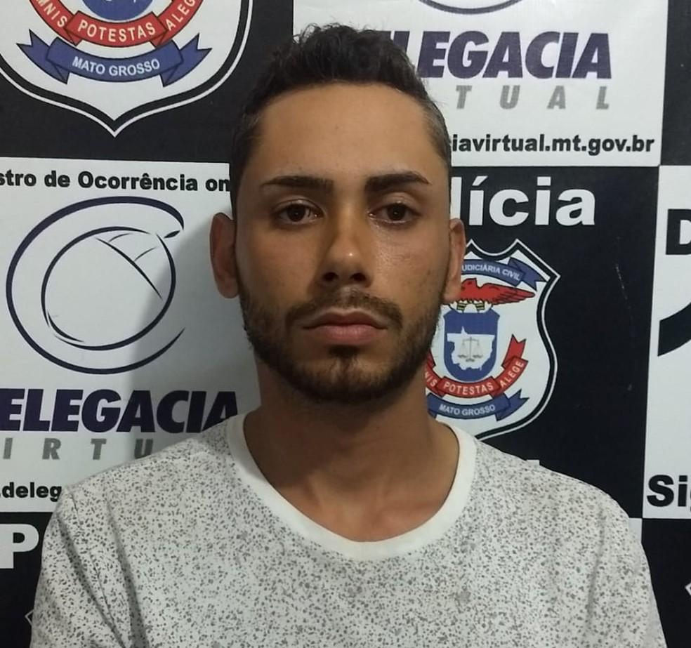 Gilmar Oliveira dos Anjos confessou o crime — Foto: Polícia Civil de Jaciara