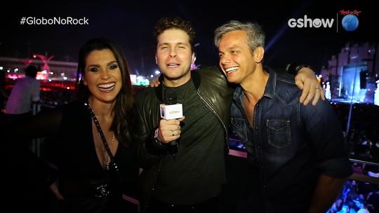 Flávia Alessandra e Otaviano Costa curtem o segundo dia de Rock in Rio