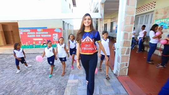 Miss Sergipe realiza ação solidária no Oratório de Bebé
