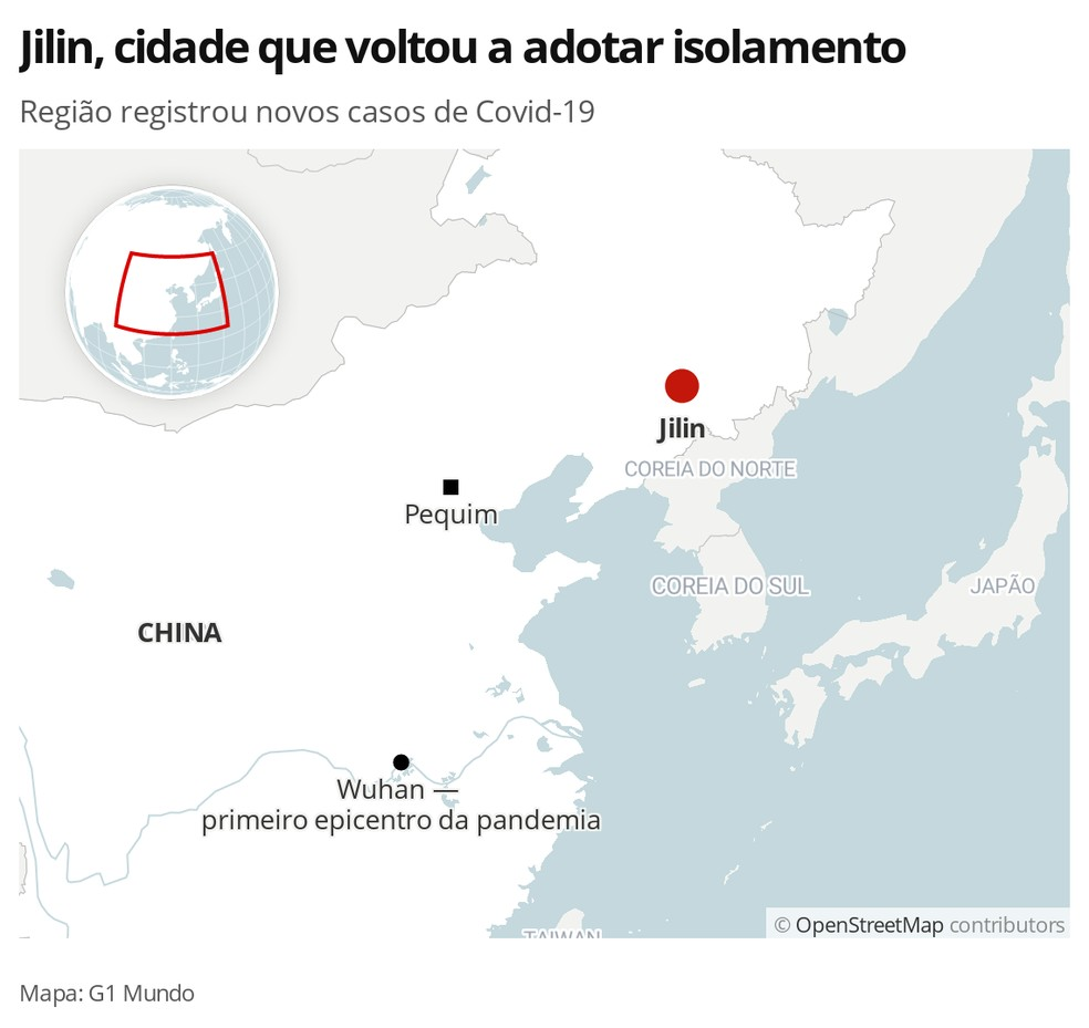 Jilin, na China — Foto: G1 Mundo