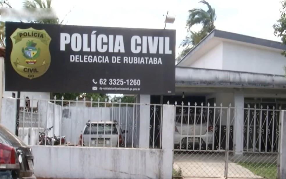 Delegacia de Rubiataba, Goiás — Foto: Reprodução/TV Anhanguera