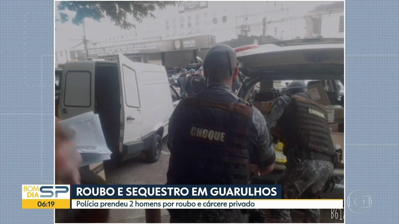 Polícia prende dois homens suspeitos de roubo de carga e sequestro em Guarulhos
