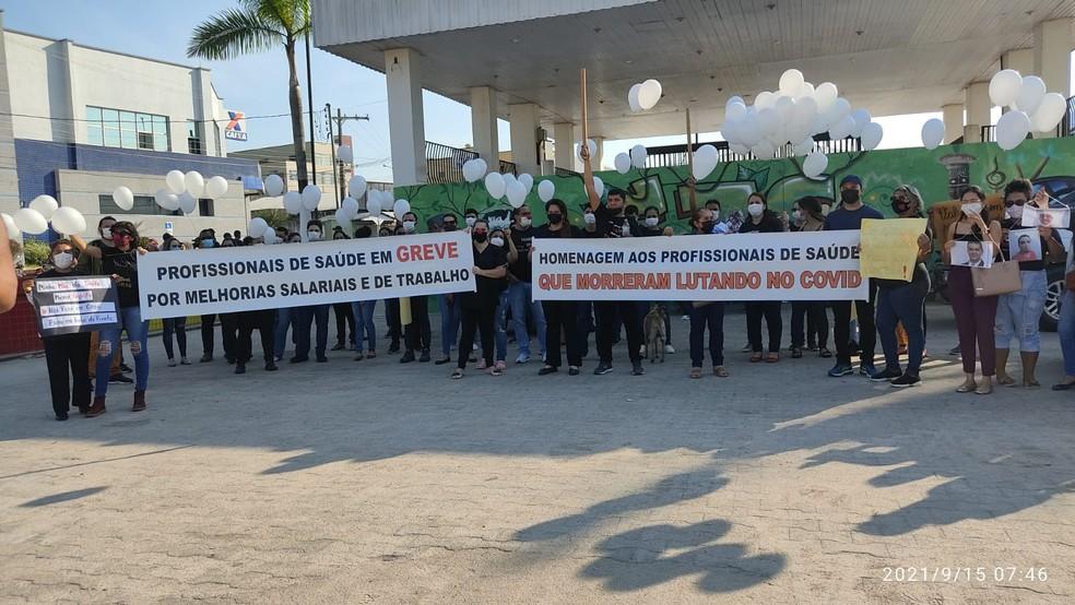 Greve começou nesta quarta-feira (15) — Foto: Gledisson Albano/Rede Amazônica Acre