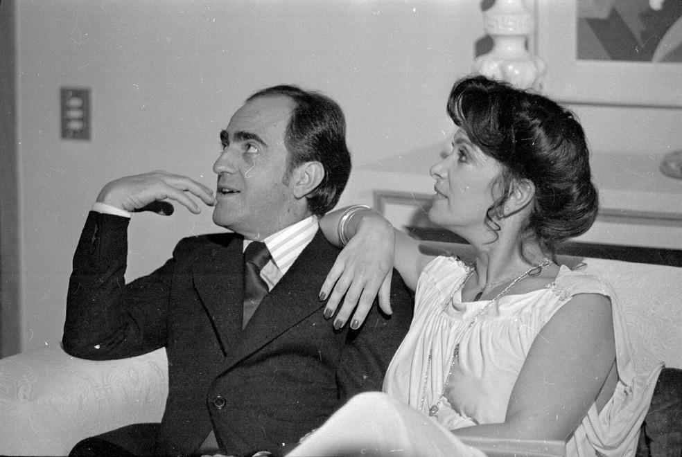 Ary Fontoura e Lady Francisco em 'Marrom Glacé' — Foto: TV Globo