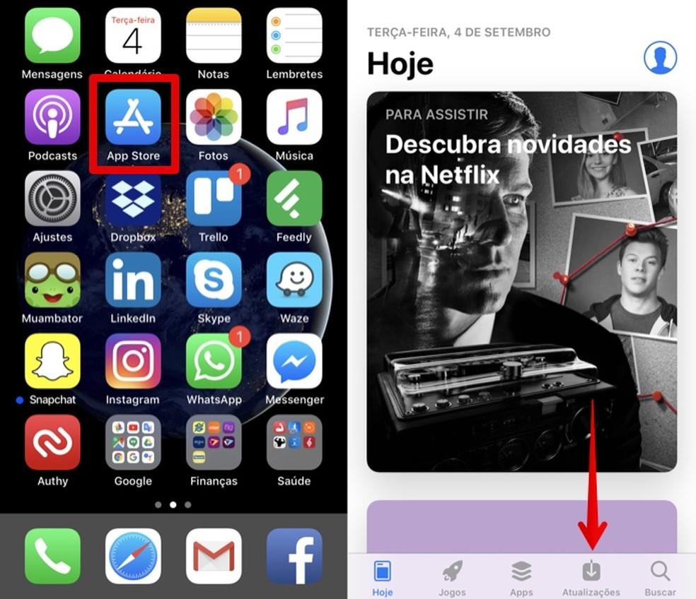 Abra a loja de aplicativos da Apple (Foto: Reprodução/Helito Bijora)