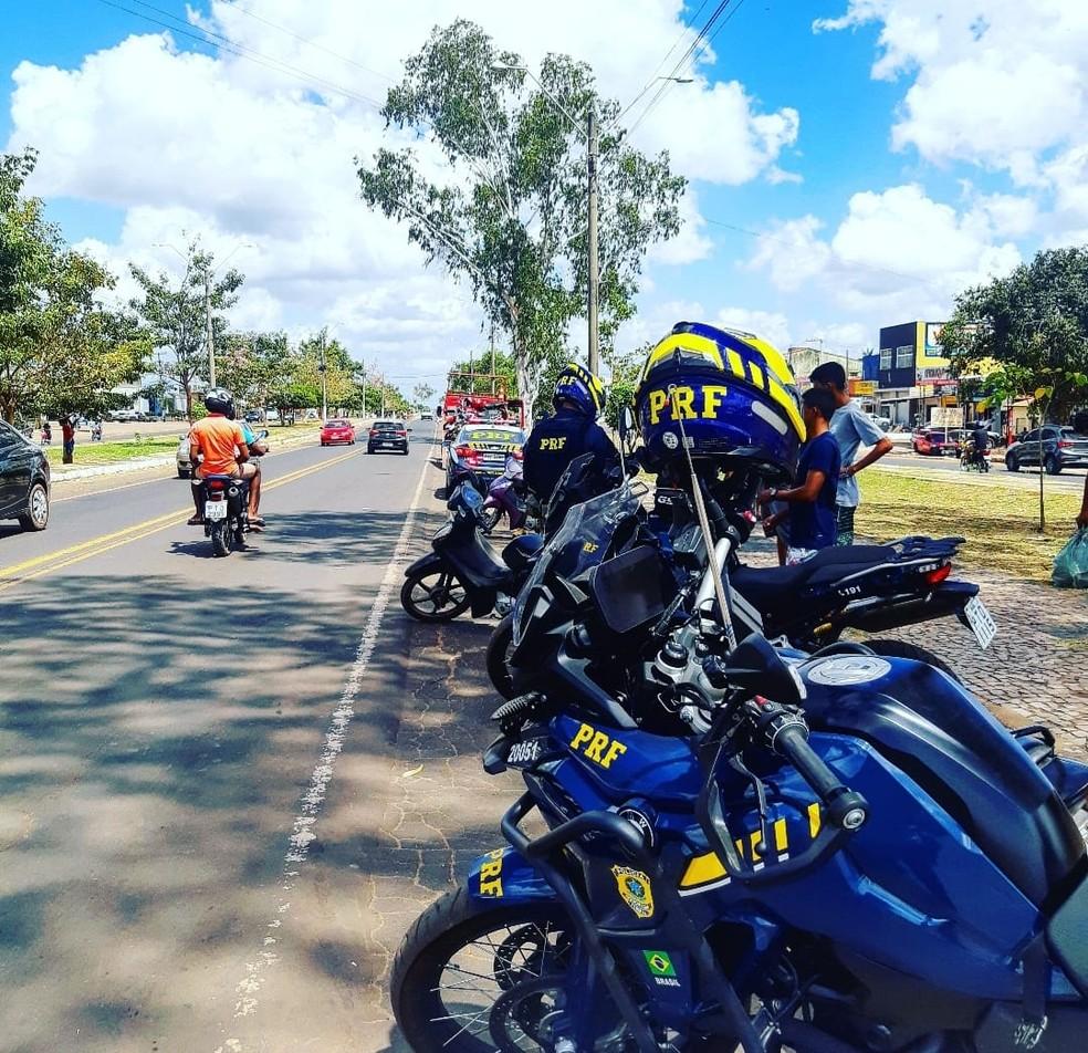 PRF inicia Operação Independência nas rodovias federais do Maranhão. — Foto: Divulgação/PRF.