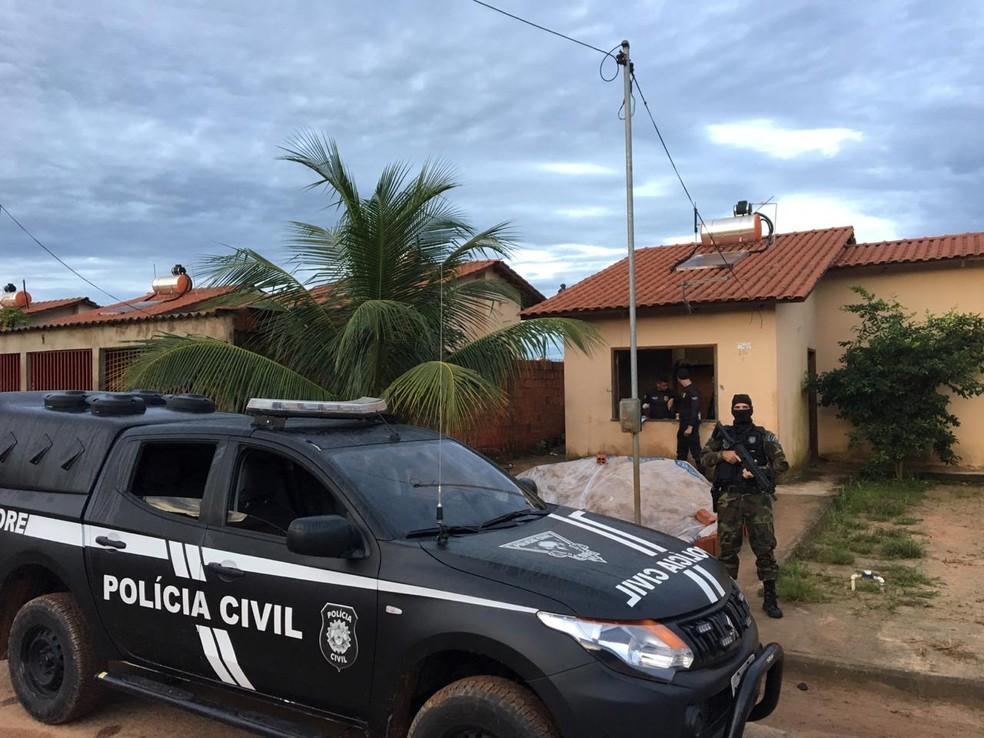 Operação ocorreu, nesta terça-feira (5), em Rio Branco e Plácido de Castro — Foto: Divulgação/Polícia Civil