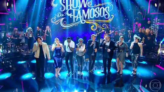 'Show dos Famosos' estreia no 'Domingão', e elenco canta vários sucessos; confira!