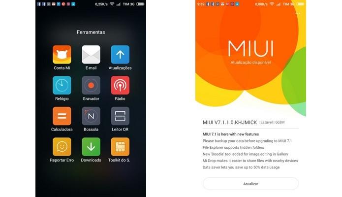 Atualização OTA da MIUI 7.1 (Foto: Reprodução/Raquel Freire)
