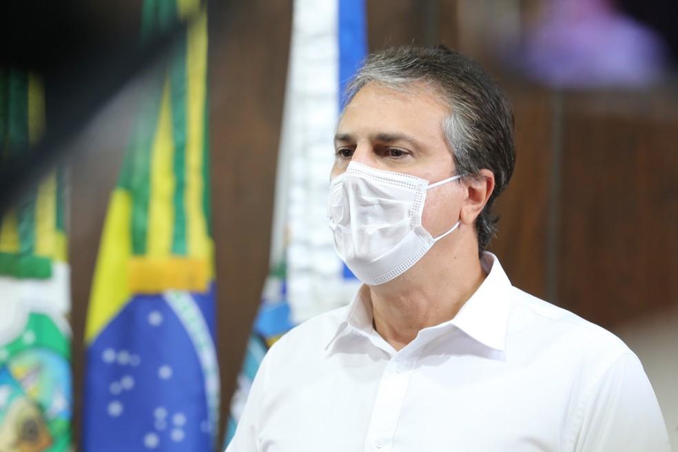 O governador do Ceará, Camilo Santana, sofreu ameaças em um grupo de Whatsapp. — Foto: José Leomar/SVM