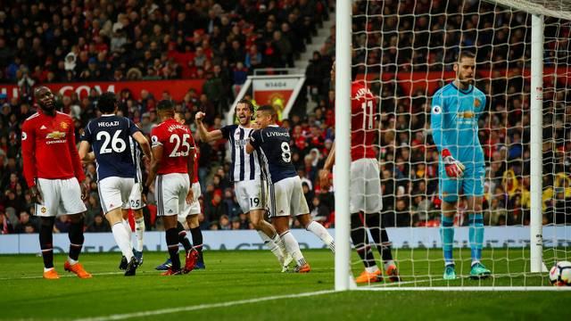 Jay Rodríguez comemora o gol que selou derrota do United
