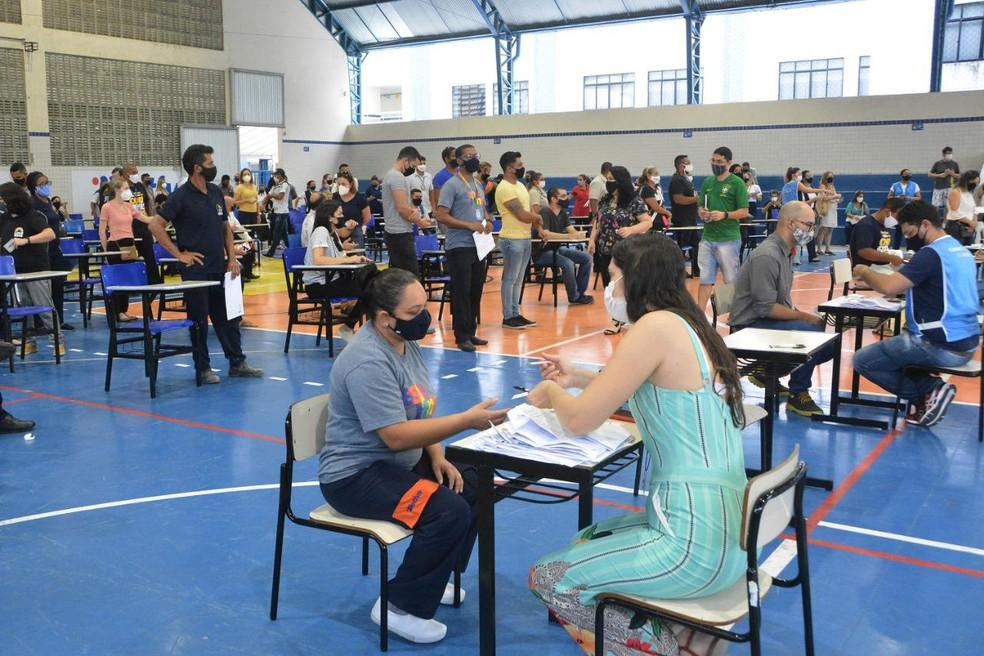 Vacinação contra Covid-19 em João Pessoa — Foto: PMJP/Divulgação