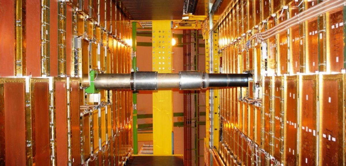 Paredes M1 e M2 do detector de múons do LHC (Foto: CERN)