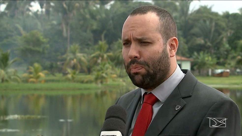 Delegado Jorge Pacheco da Delegacia Regional de Polícia Ciivl de Viana (Foto: Reprodução TV Mirante)