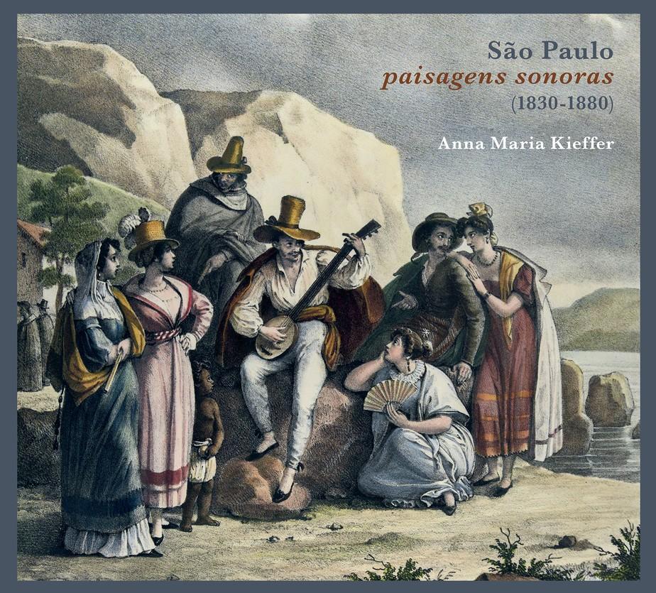 Habitantes de São Paulo. Ilustração de Johann Moritz Rugendas, 1822. Imagem: Reprodução.