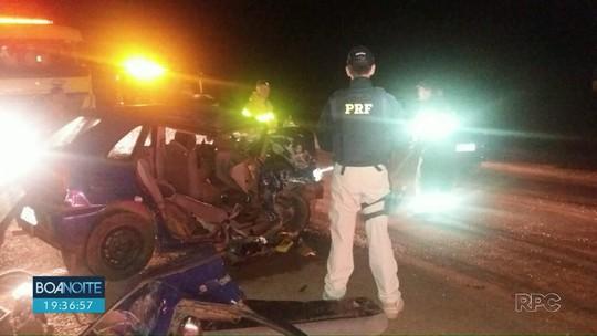 Cinco pessoas ficaram feridas depois de acidente na BR-277 em Guarapuava