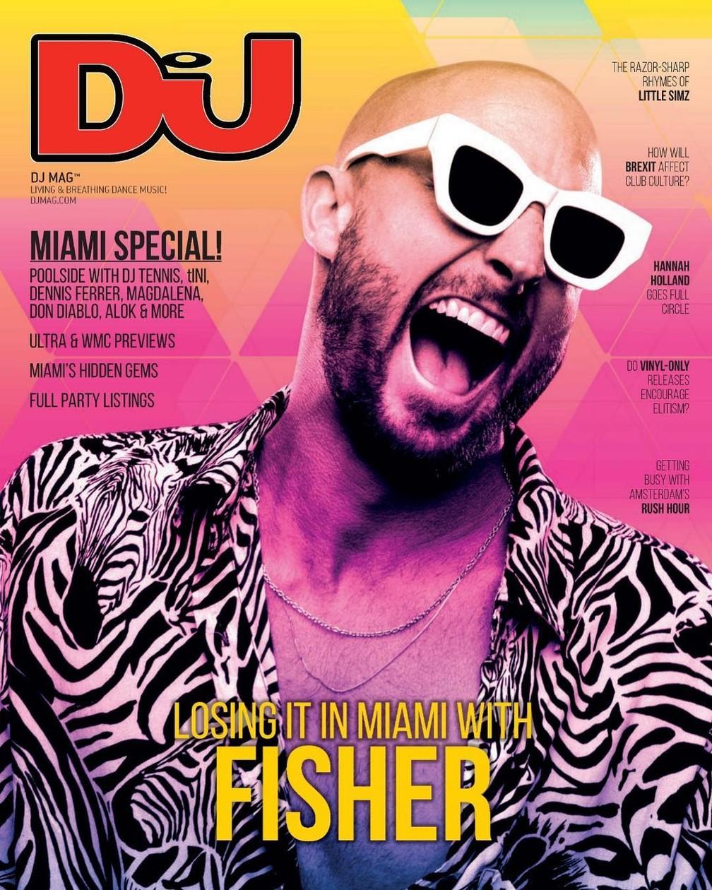 Fisher é capa da DJ Magazine de março — Foto: Reprodução/Instagram/FollowTheFishTV