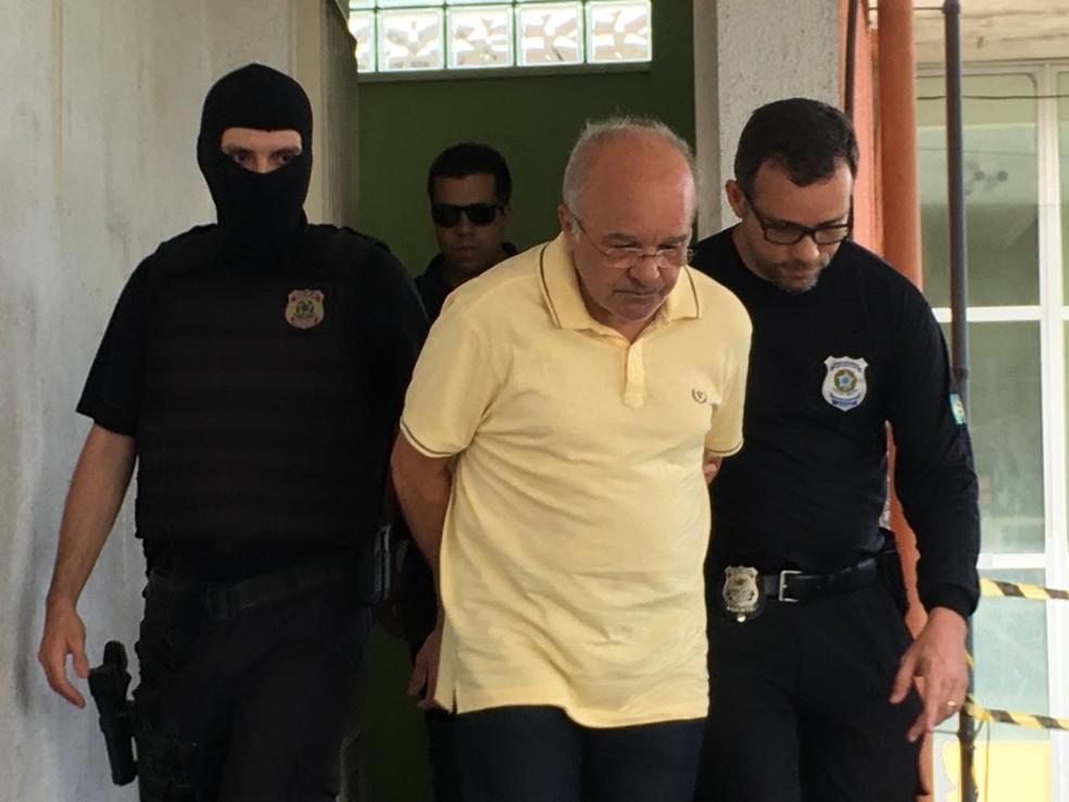 José Melo no dia de sua prisão, em 4 de janeiro (Foto: Ariane Alcântara/G1 AM)