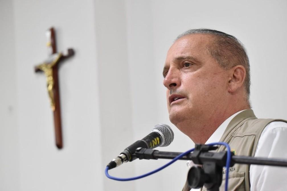 Ministro da Cidadania, Onyx Lorenzoni, no Piauí — Foto: Foto: Rafael Carvalho/Min. Cidadania
