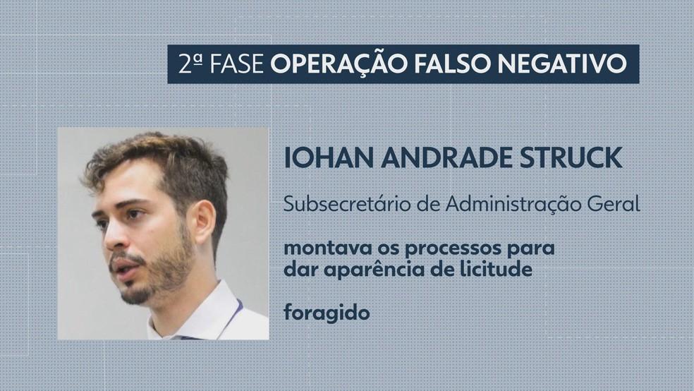 Iohan Andrade Struck — Foto: TV Globo/Reprodução