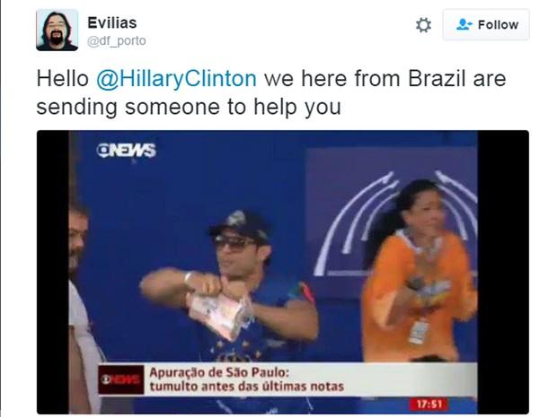 O integrante da escola de samba Império de Casa Verde que não aceitou o resultado da apuração de 2012 e rasgou o papel das notas foi lembrado (Foto: Reprodução)