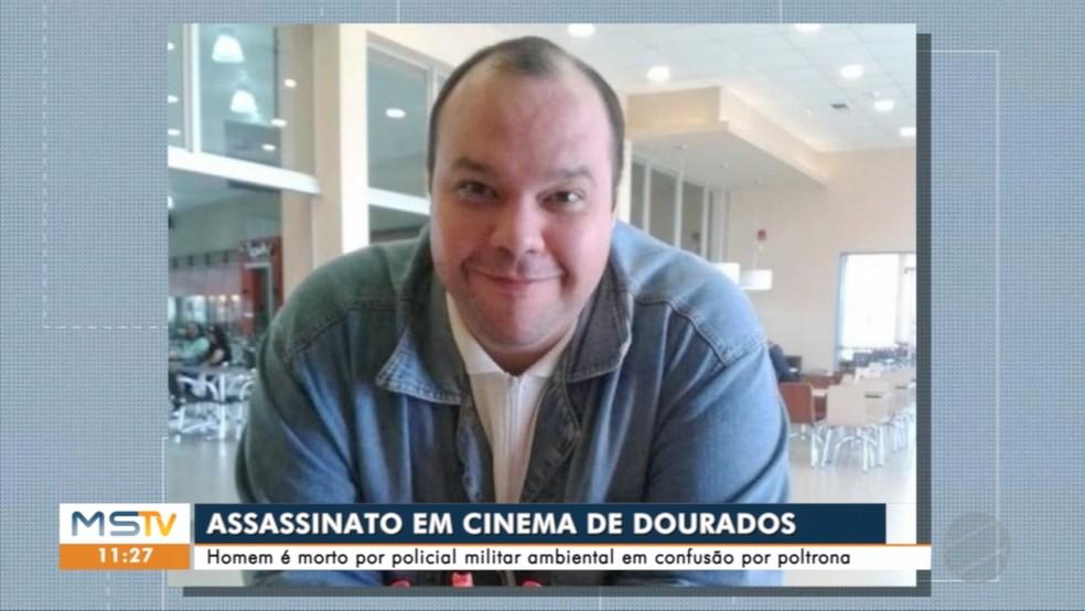 Julio Cerveira foi morto dentro de sala de cinema em Dourados  — Foto: TV Morena/Reprodução