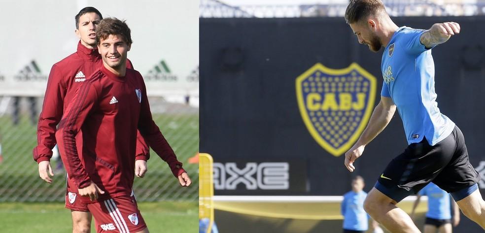 River Plate e Boca Juniors treinam para o Superclássico — Foto: Sites oficiais de River e Boca