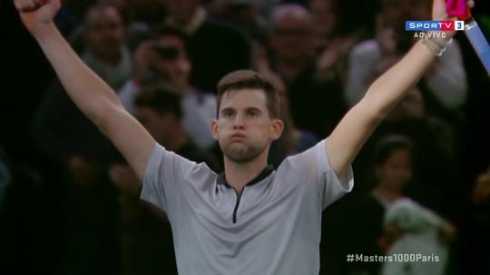 Dominic Thiem vence Jack Sock nas quartas de final do Masters 1000 de Paris