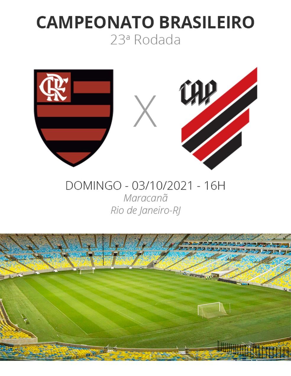 Ficha Flamengo x Athletico-PR — Foto: ge