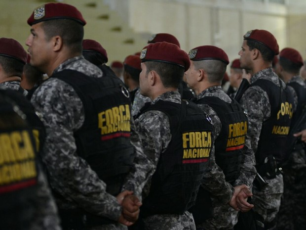 Policiais durante a apresentação na manhã desta terça (Foto: Rodrigo Ziebell/SSP-RS)
