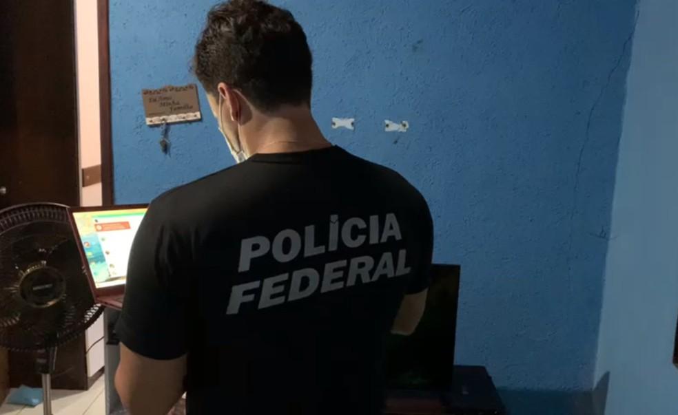 Operação da PF contra fraudes a benefícios previdenciários cumpre mandados em Dias D'Ávila — Foto: Divulgação/Polícia Federal