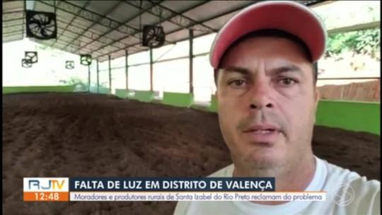 Moradores e produtores rurais de Valença reclamam de falta de luz