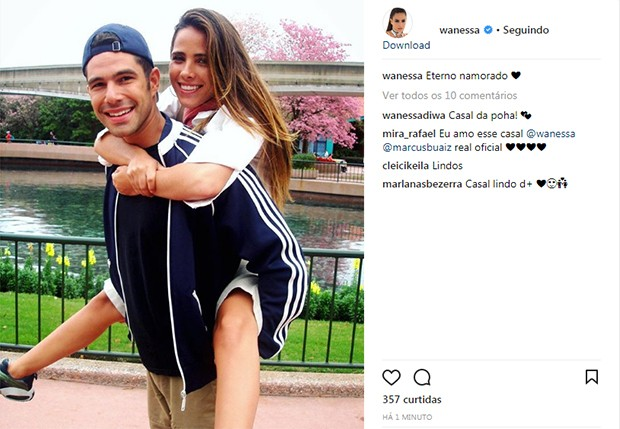 Wanessa e Marcus Buaiz (Foto: Reprodução/ Instagram)