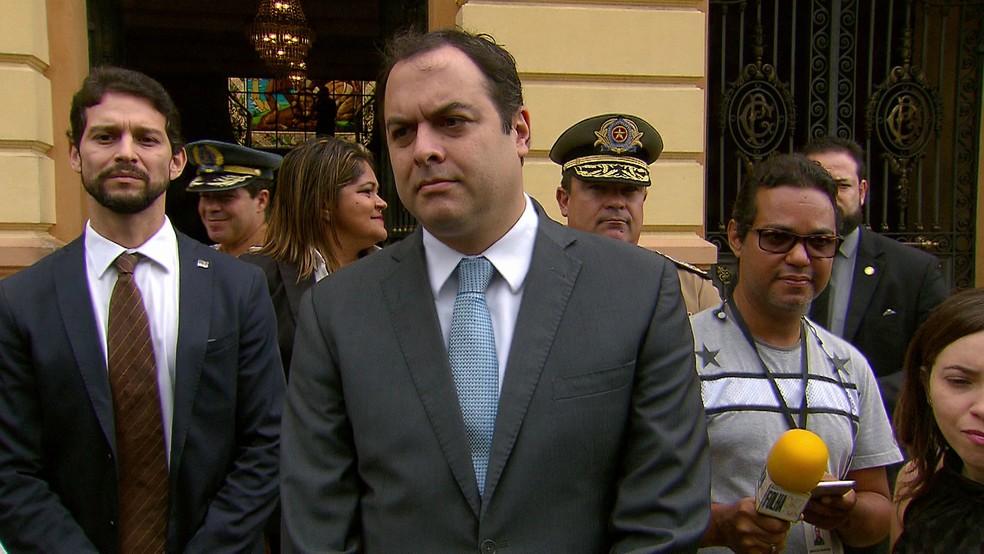 Governador Paulo Câmara descartou atuação da Força Nacional no estado (Foto: Reprodução/TV Globo)
