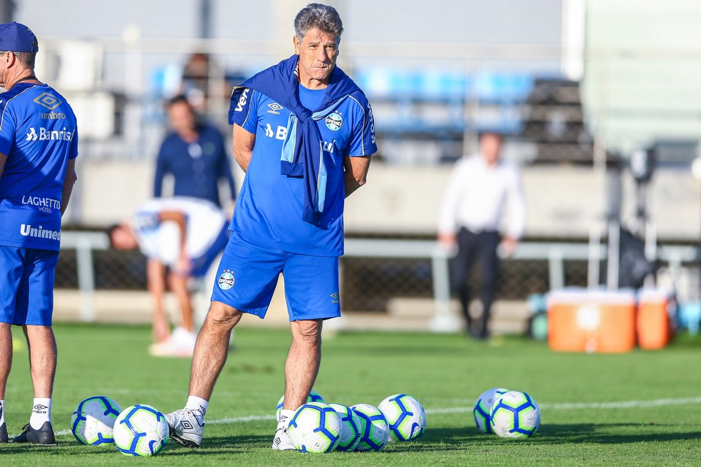 Renato Gaúcho está desde 2016 nesta atual passagem pelo Grêmio — Foto: Lucas Uebel/Grêmio