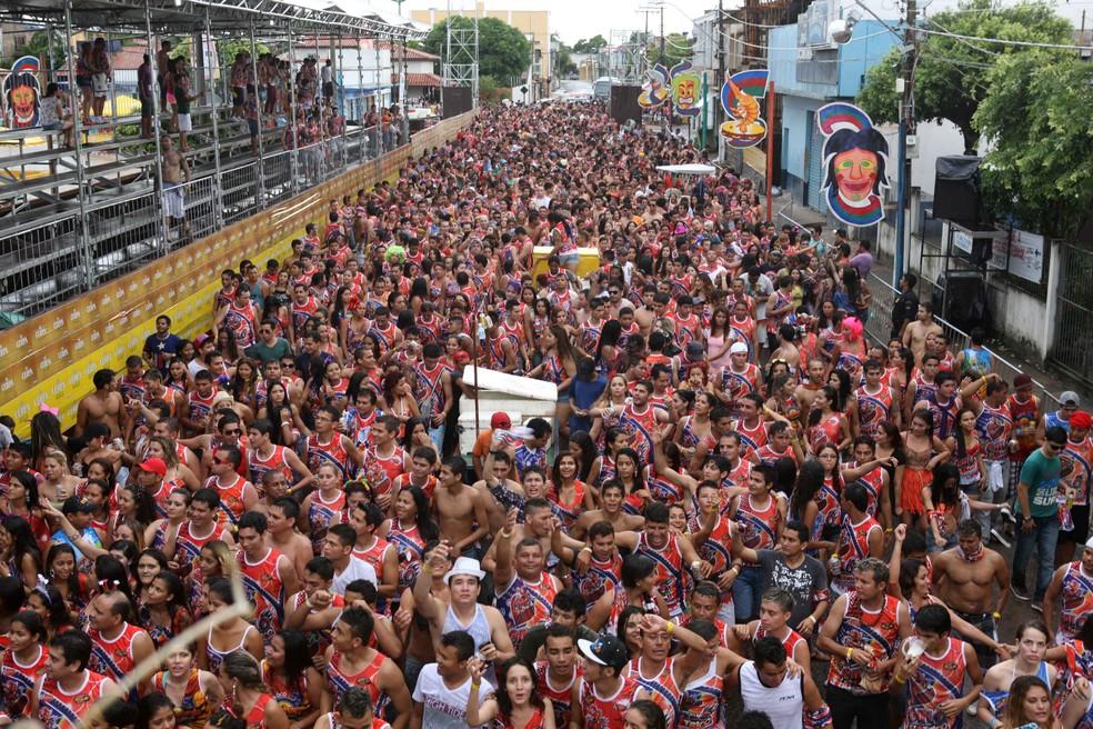 Corredor da Folia recebe os blocos em Cametá.  (Foto:  Rodolfo Oliveira/Agência Pará)