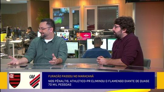 Redação: comentaristas analisam o erro de Diego na cobrança de pênalti que irritou a torcida