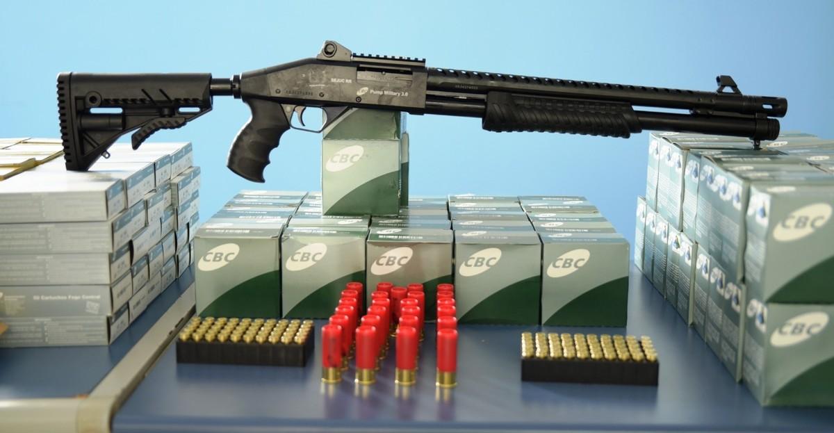 Agentes penitenciários de Roraima recebem 20 espingardas e 10 mil munições