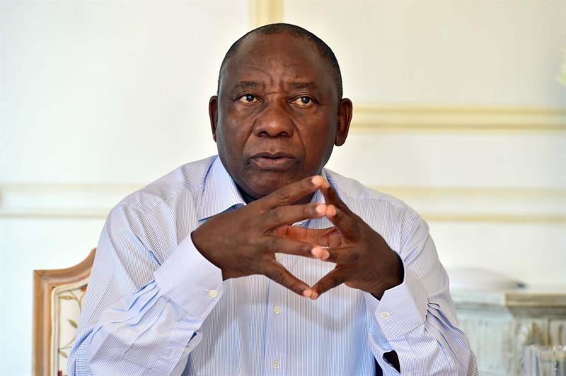 Cyril Ramaphosa, novo presidente da África do Sul  (Foto: Agência EFE)