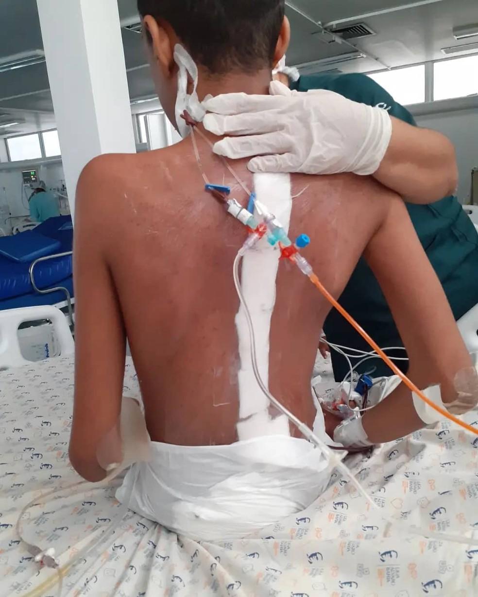 Gabriel West foi operado no Hospital Estadual da Criança (HEC), em Feira de Santana — Foto: Arquivo pessoal