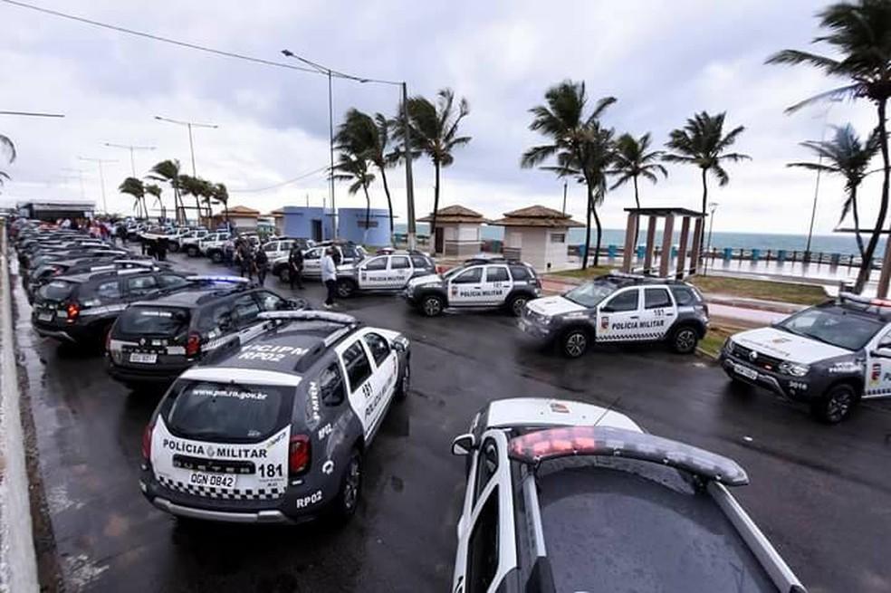 Foto 50 viaturas foram doadas pela Assembleia Legislativa do RN a municípios potiguares, em março deste ano — Foto: ALRN/Divulgação
