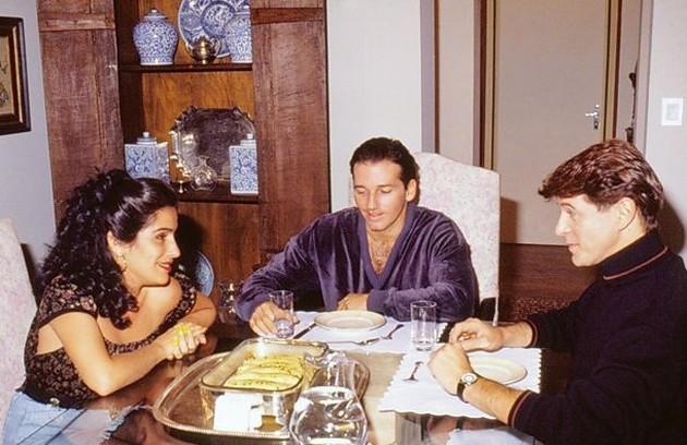 Novela de 1990, 'Mico preto' teve Glória, Miguel Falabella e Marcelo Picchi no elenco (Foto: Divulgação/TV Globo)