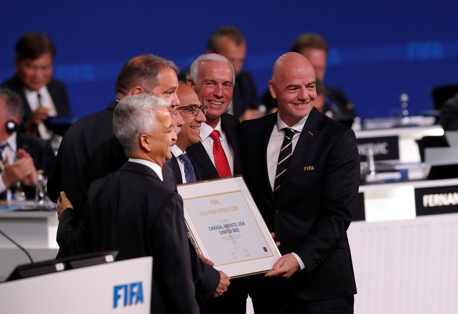 Copa de 2026, com 48 seleções, será disputada nos EUA, México e Canadá