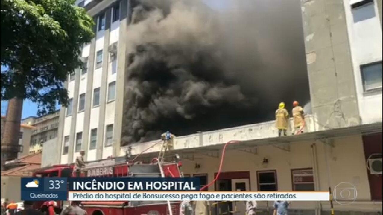 Incêndio atinge prédio do Hospital Federal de Bonsucesso