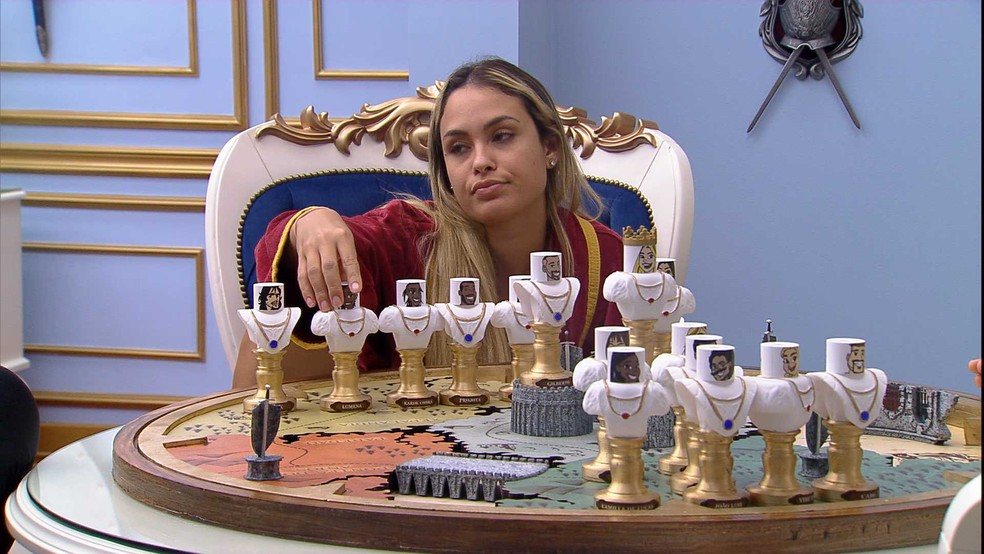 Líder Sarah dispara sobre seu possível voto no BBB21: 'De opção de voto, primeiro seria a Pocah' — Foto: Globo
