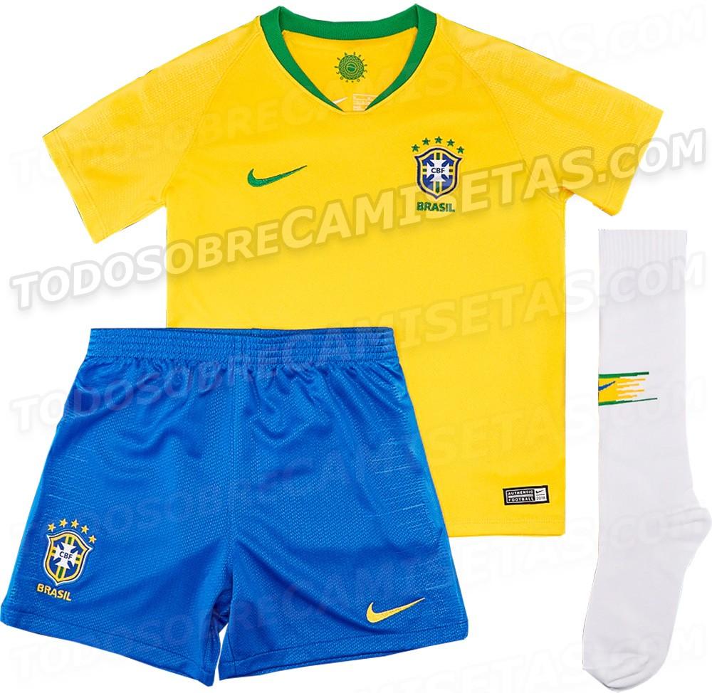 Site vaza supostas camisas do Brasil para Copa da Rússia - Esportes ... 3479adaa49b45