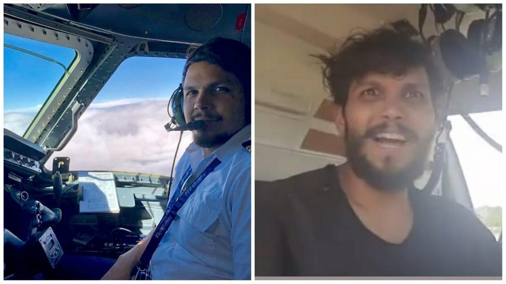 Antonio Sena antes e após o acidente — Foto: Arquivo pessoal