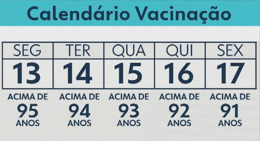 Rio começa vacinação da terceira dose em idosos nesta segunda (13) — Foto: Reprodução