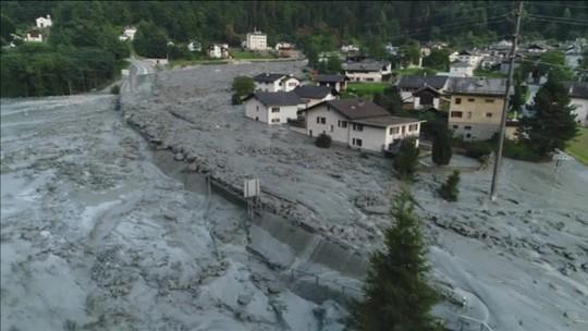 Deslizamento deixa desaparecidos na Suíça